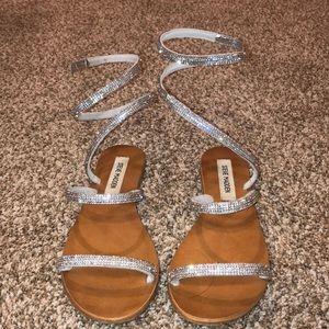 Tie up rhinestone sandal Steve Madden